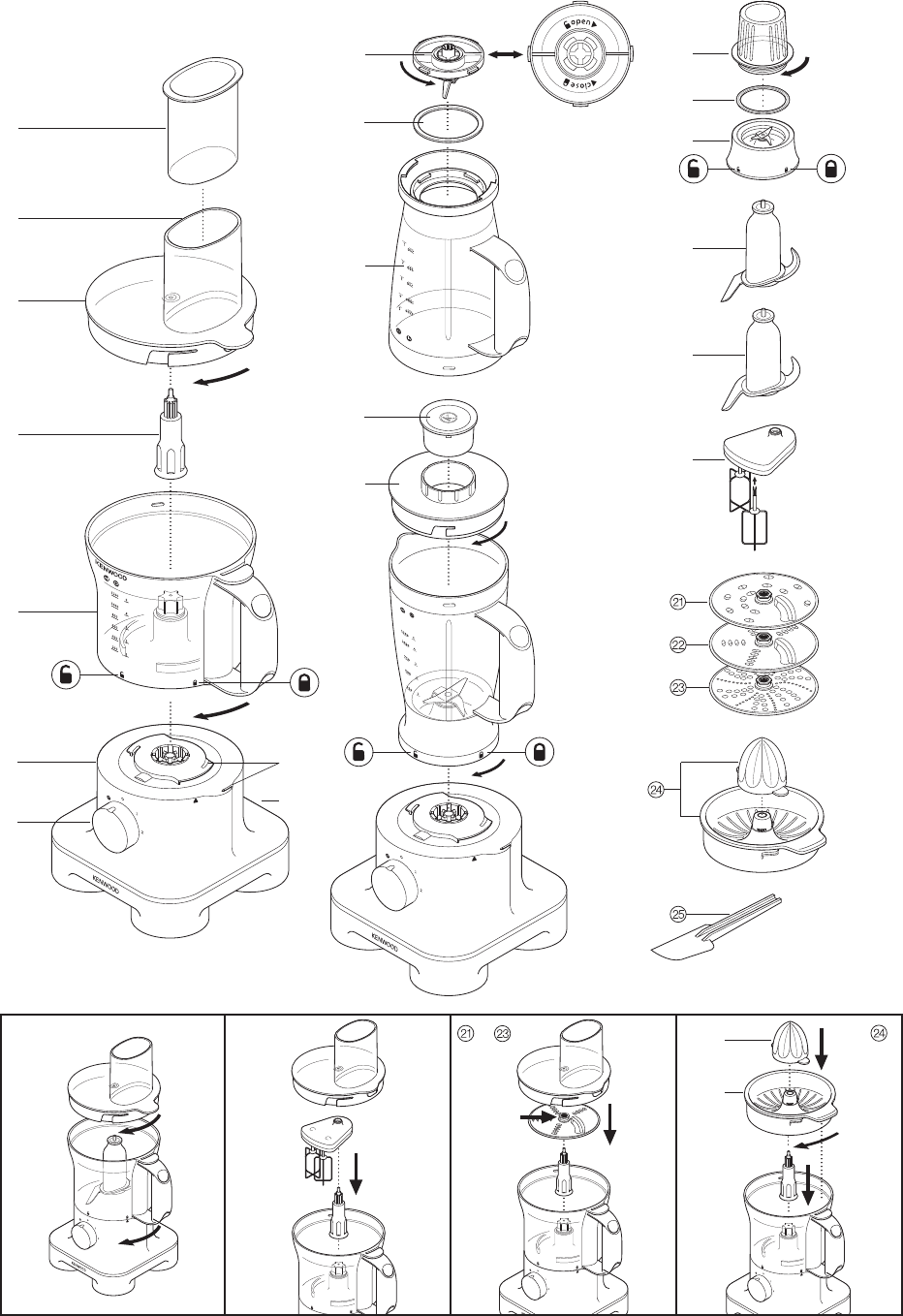 Page 3 of Kenwood Food Processor FPM25 User Guide