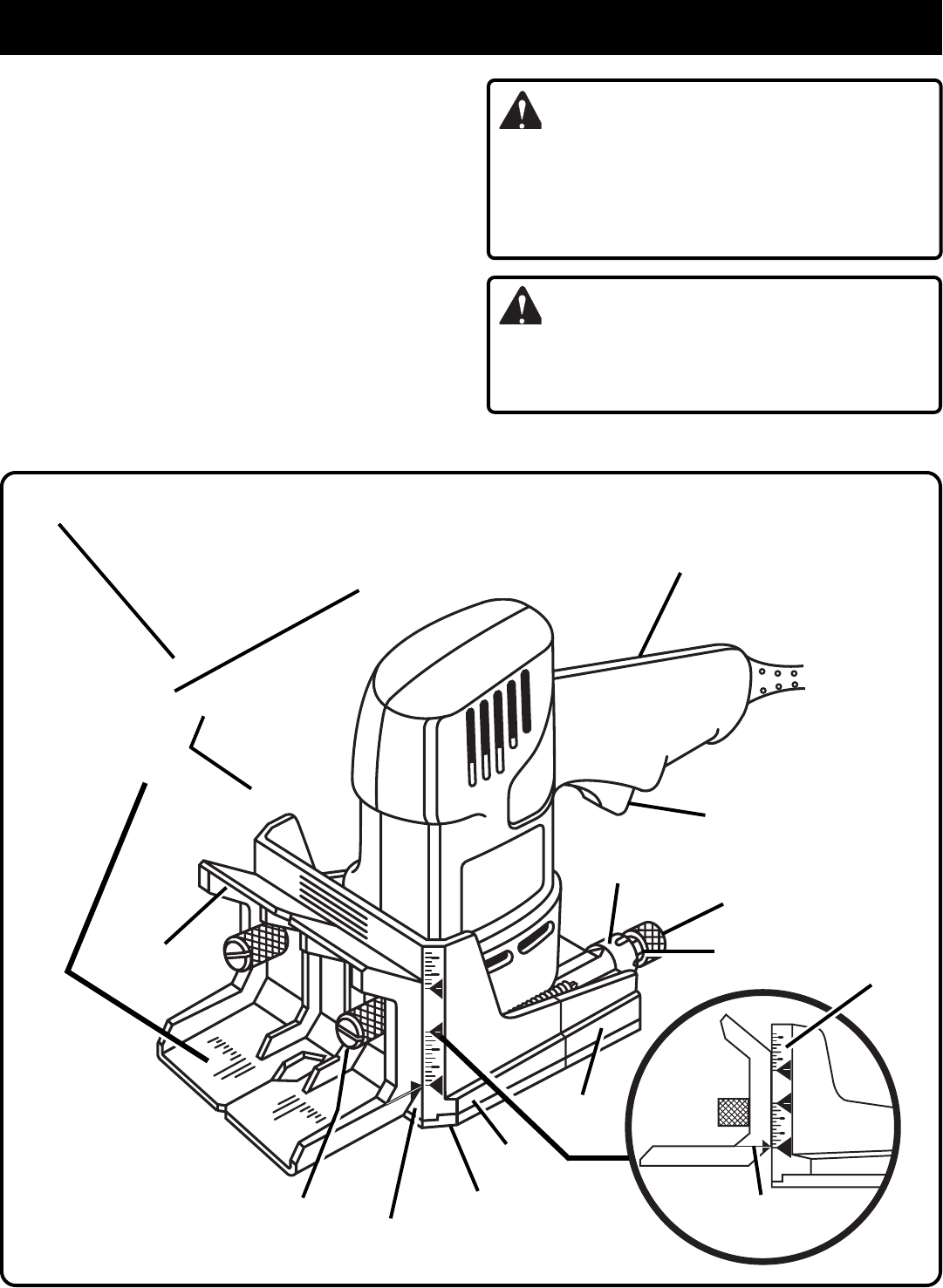 Page 8 of Ryobi Biscuit Joiner DBJ50 User Guide