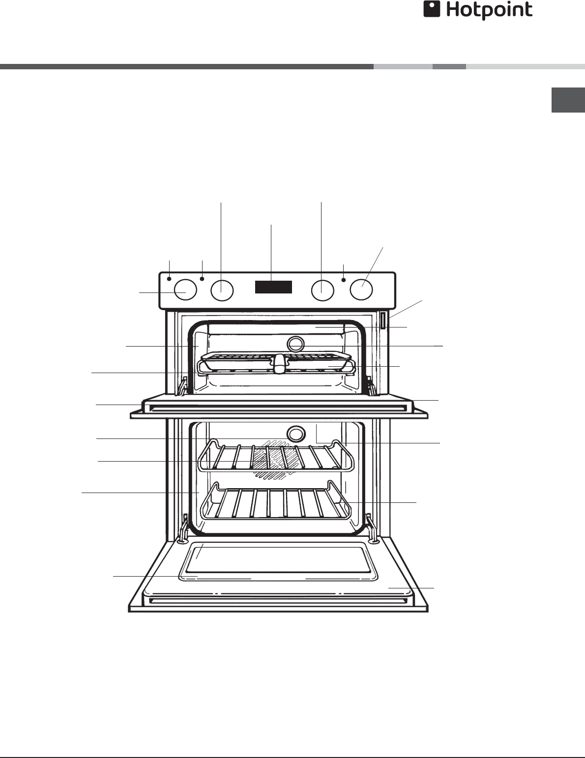 Page 5 of Hotpoint Double Oven DBS 539 CX S User Guide