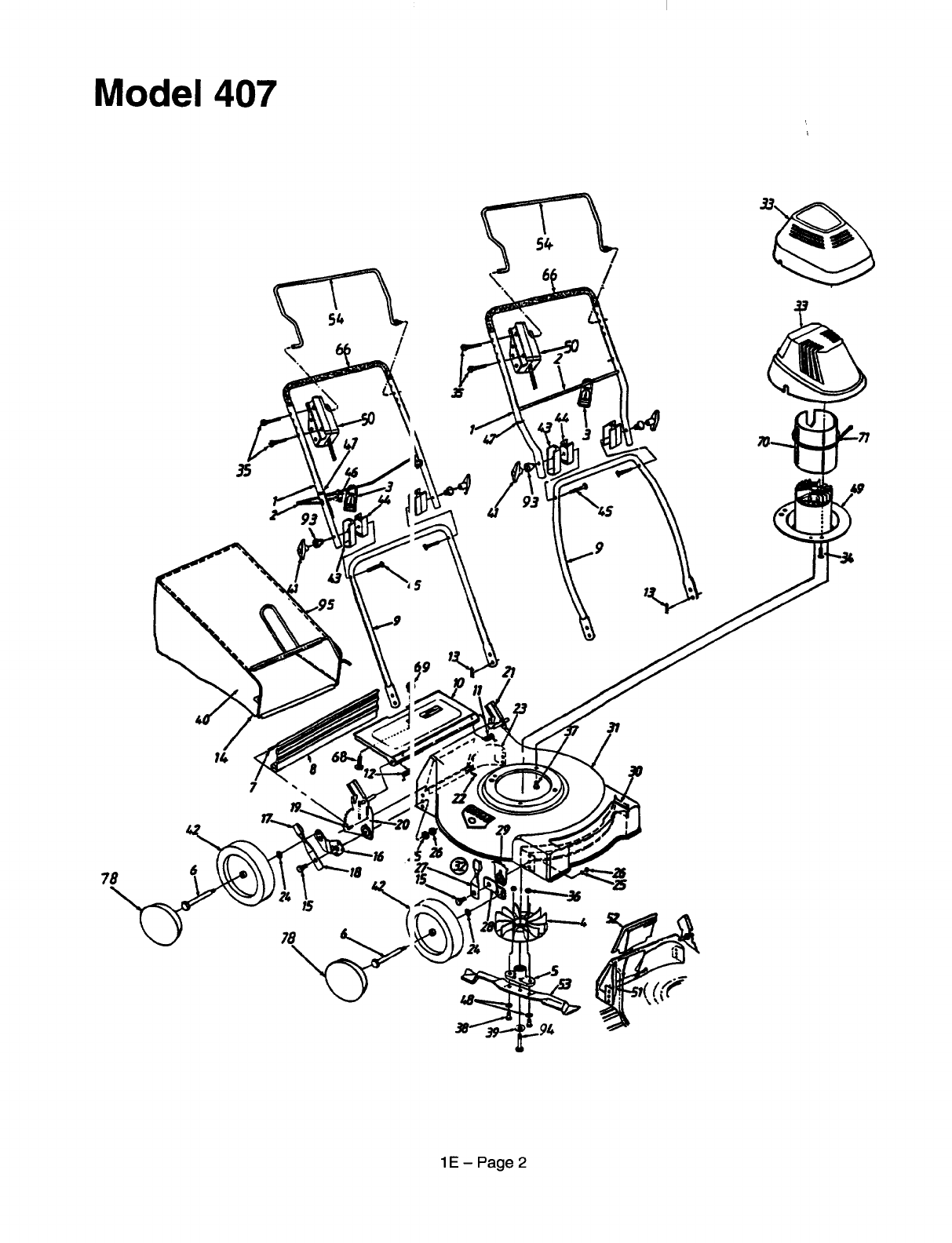Page 2 of MTD Lawn Mower 186-707-000 User Guide
