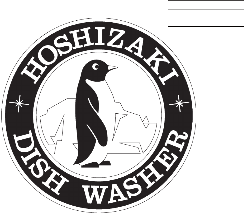 Hoshizaki Dishwasher JWE-24000CUA-L-25B User Guide