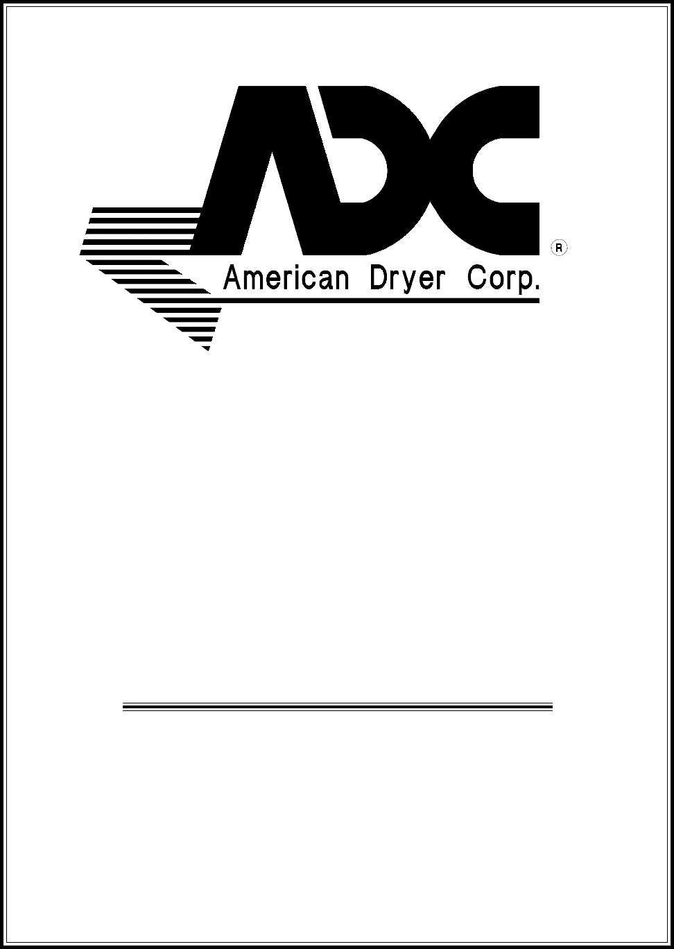 American Dryer Corp. Clothes Dryer ADG-50DS User Guide