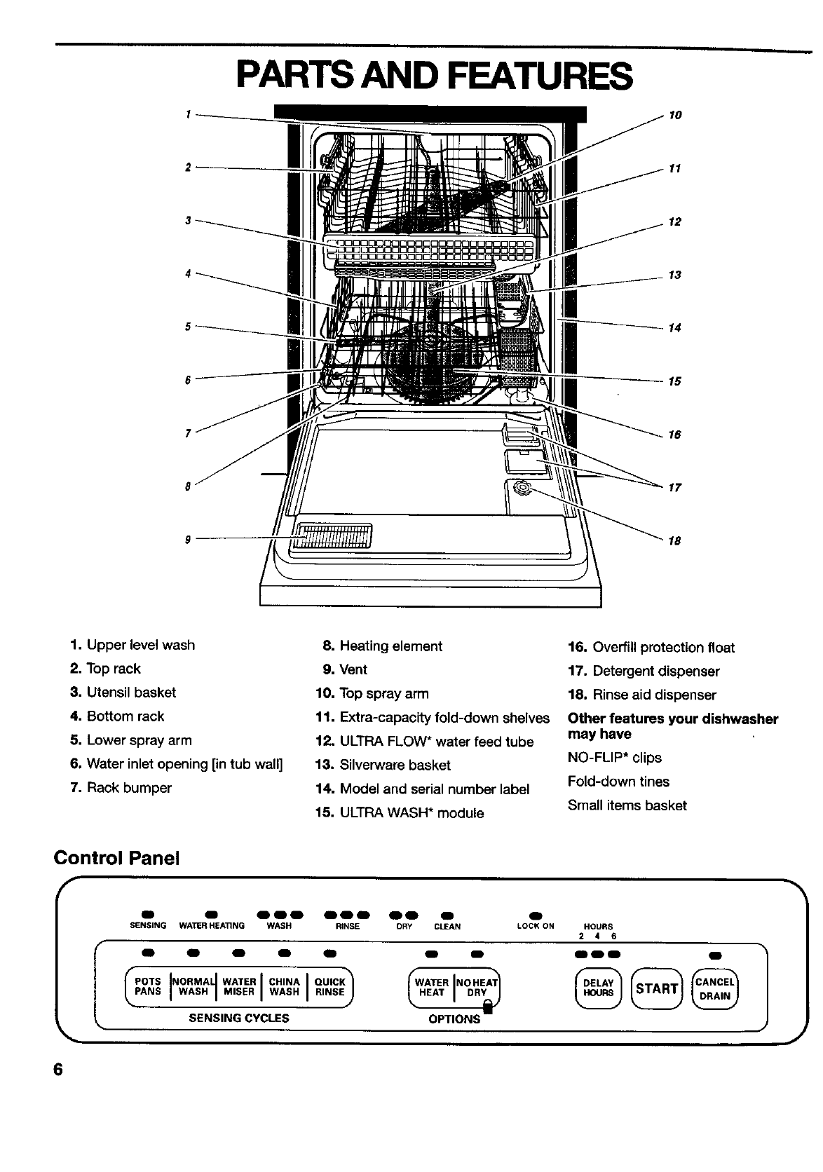 kenmore elite dishwasher 665 parts diagram 12v light switch wiring page 6 of 790 15777 user guide
