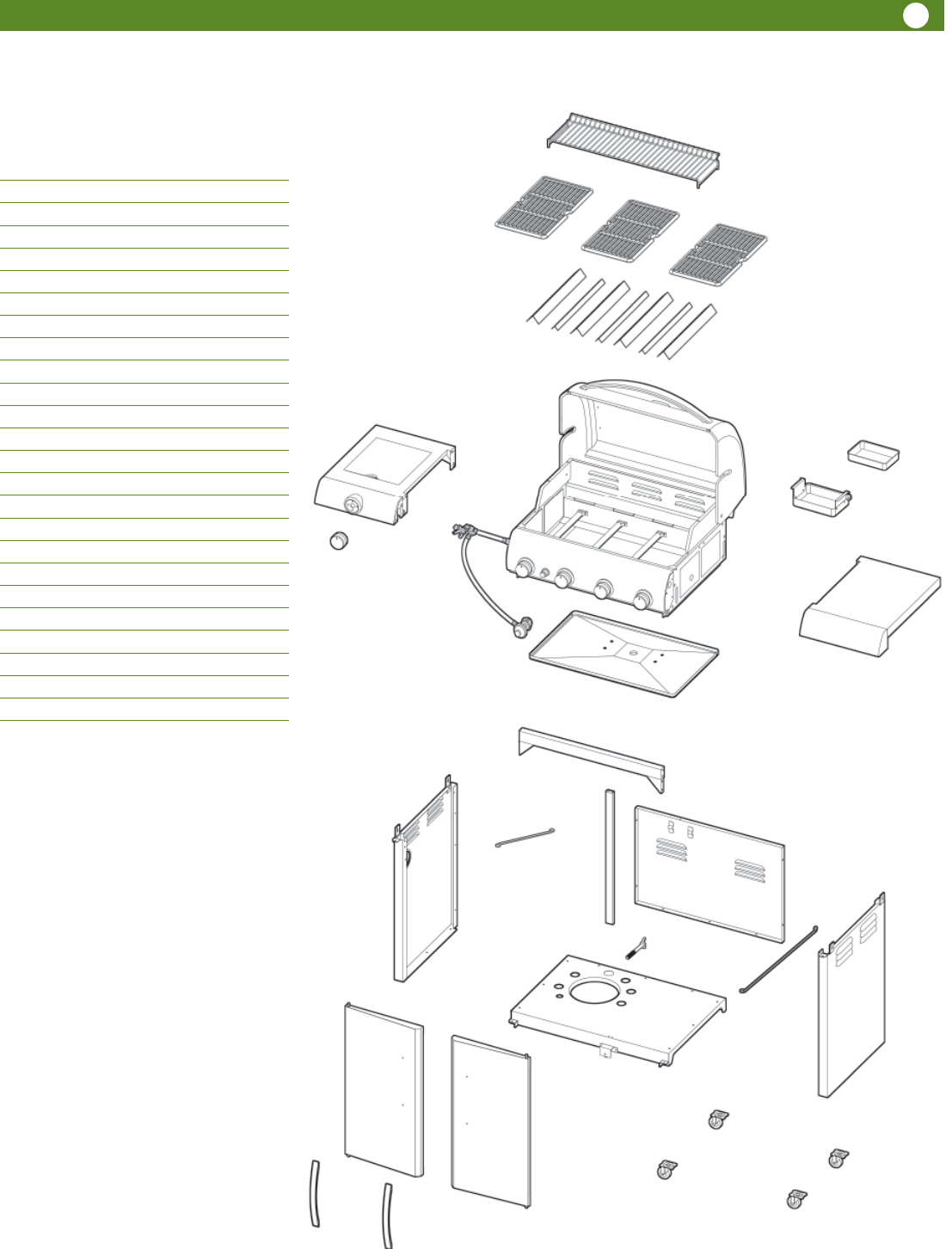 Page 3 of Aussie Gas Grill 6804T8UK91 User Guide