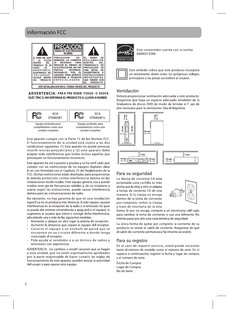 Page 16 of RCA TV Converter Box DTA800B1L User Guide