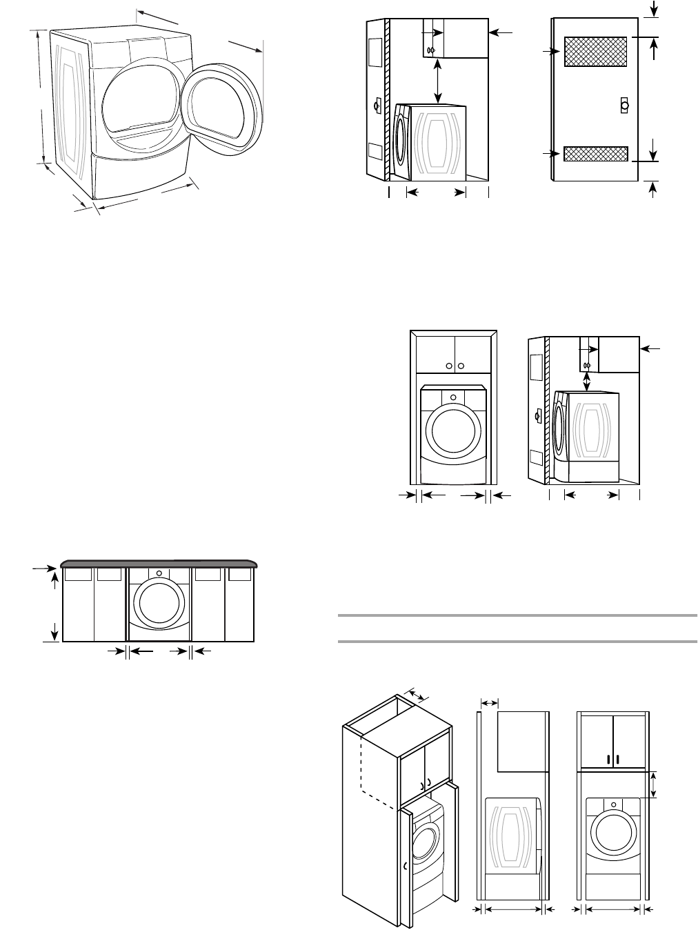 Page 6 of Kenmore Clothes Dryer 110.9787 User Guide