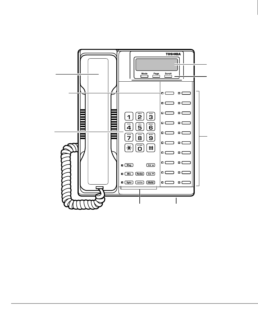 Page 15 of Toshiba Telephone 2000-series User Guide
