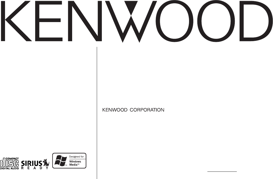 Kenwood Car Stereo System KDC-2025 User Guide