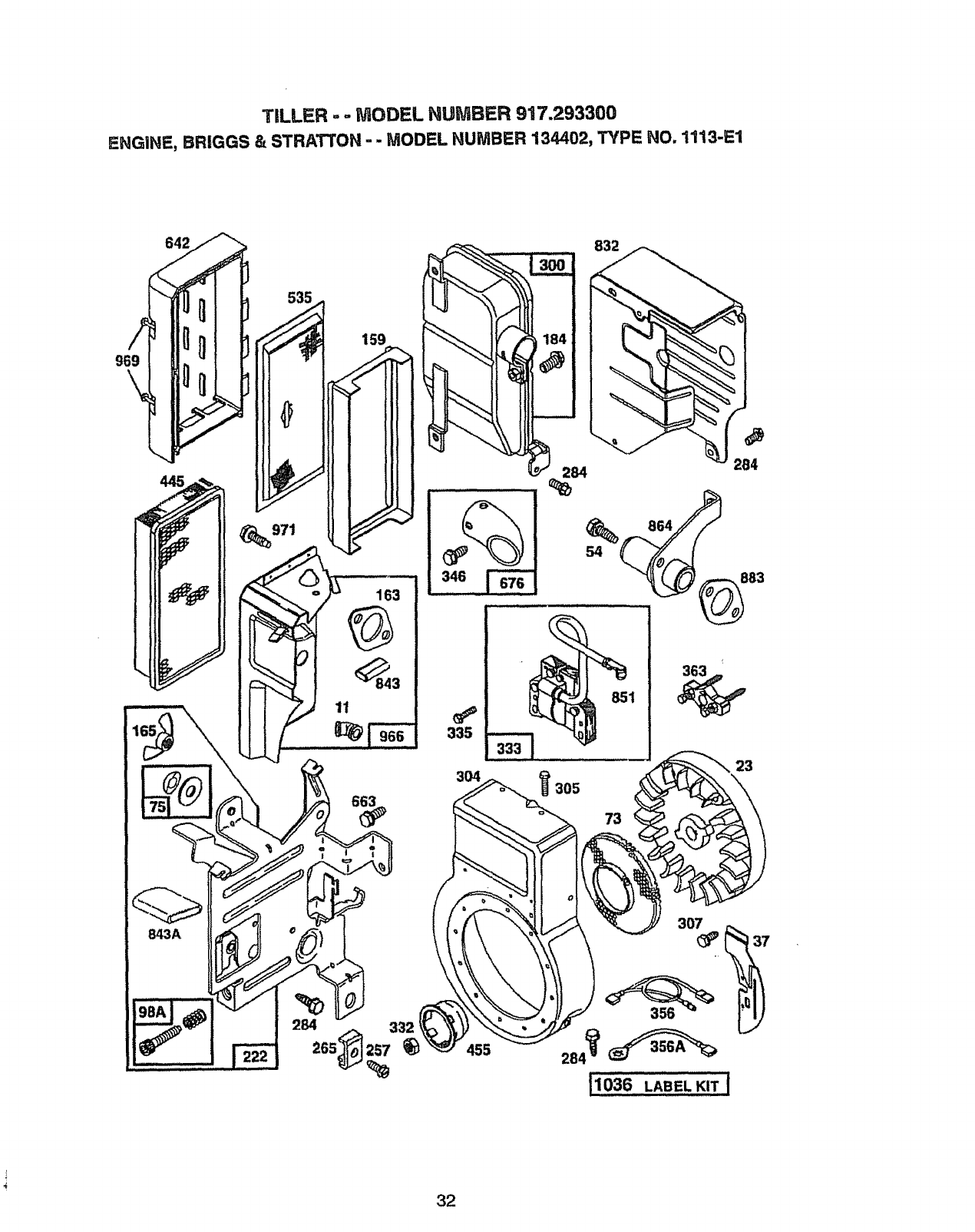 Page 32 of Craftsman Tiller 917.2933 User Guide