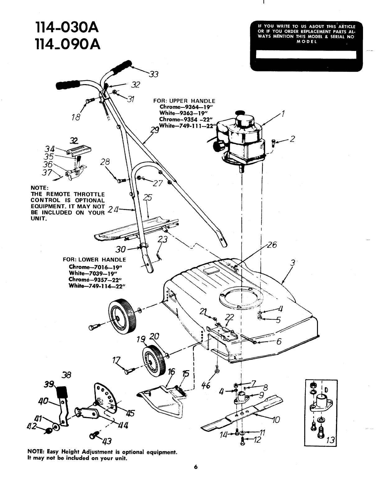 Page 6 of Bolens Lawn Mower 114-030A User Guide