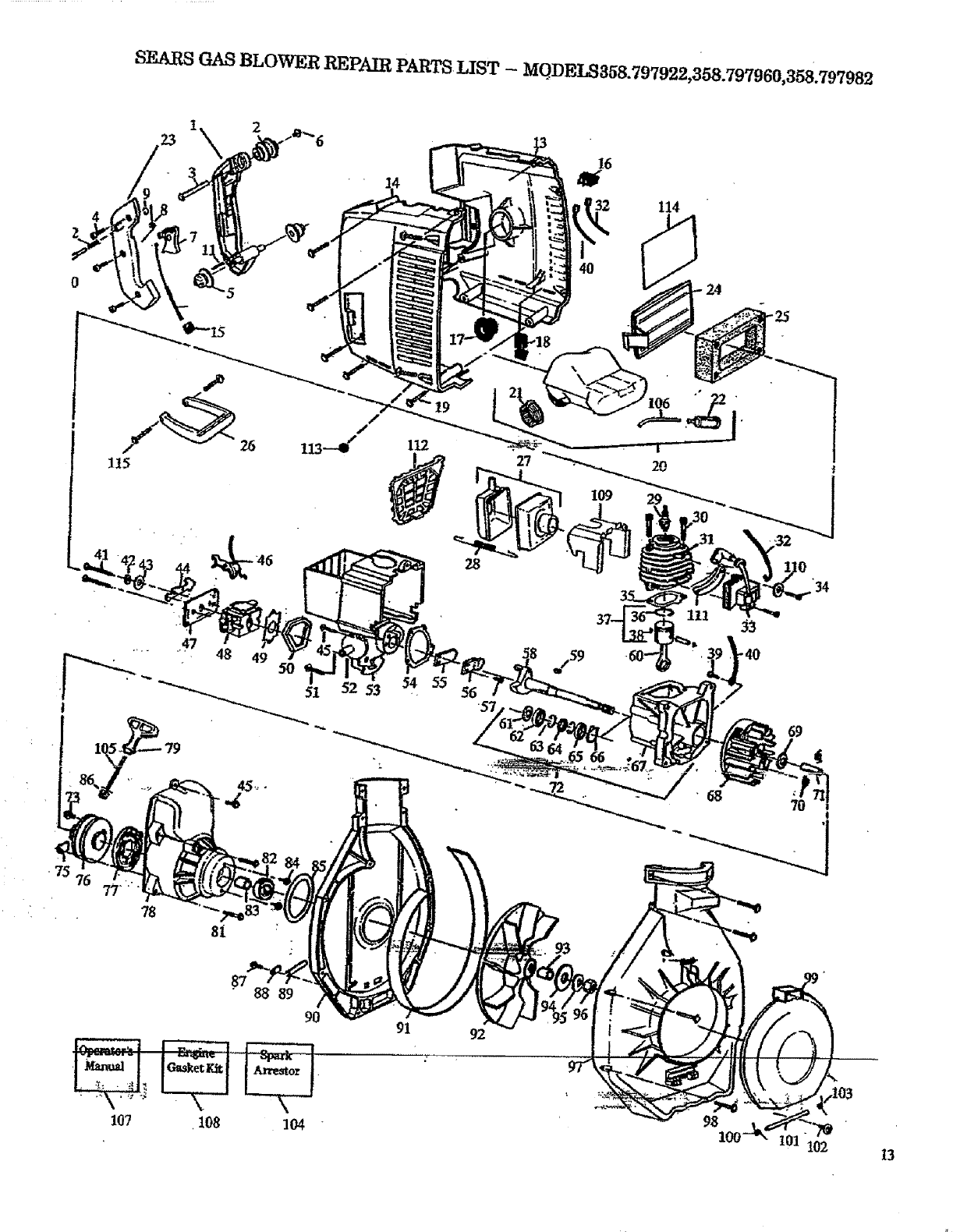 Page 13 of Craftsman Blower 358.797921 User Guide