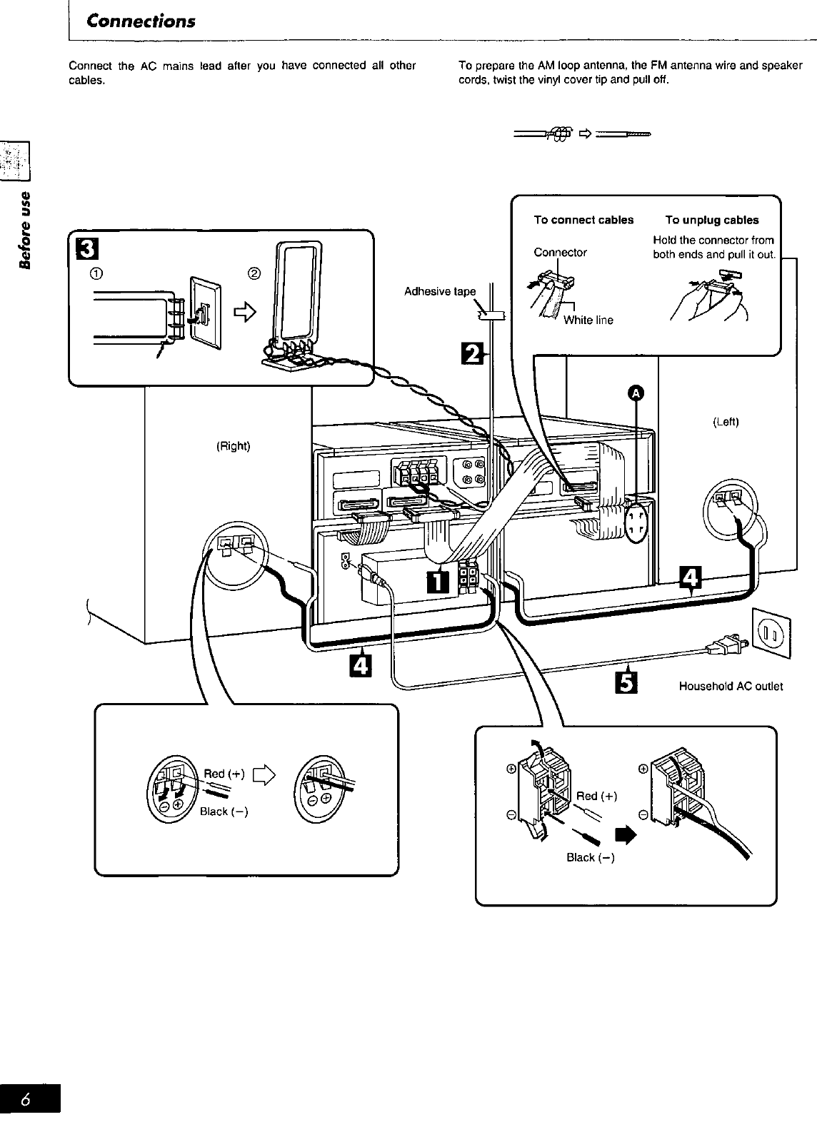 Page 6 of Technics Stereo System SC-HD55 User Guide