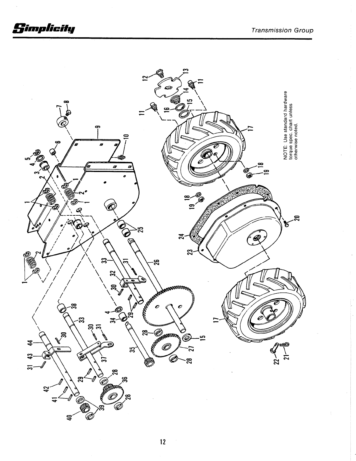 Page 14 of Simplicity Snow Blower 1977 User Guide