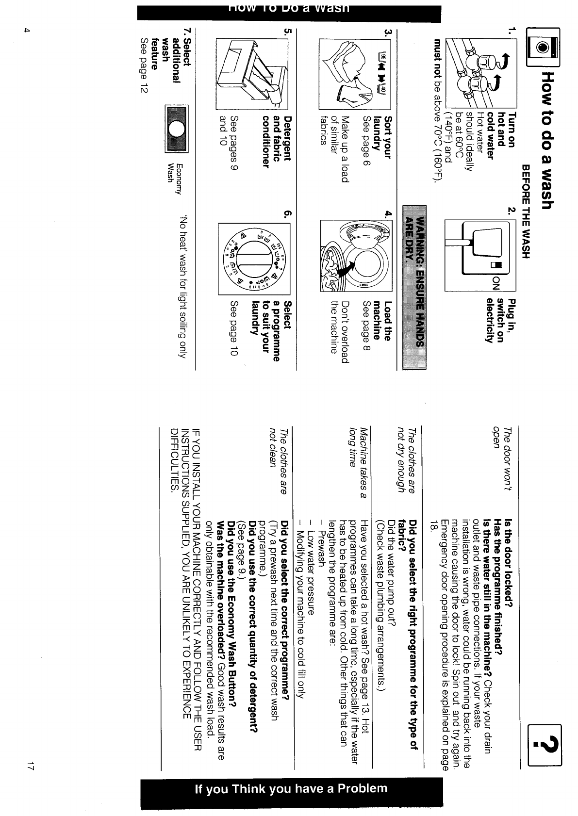 Page 4 Of Hotpoint Washer User Guide