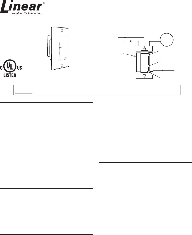 Linear ws15z 1 switch user manual