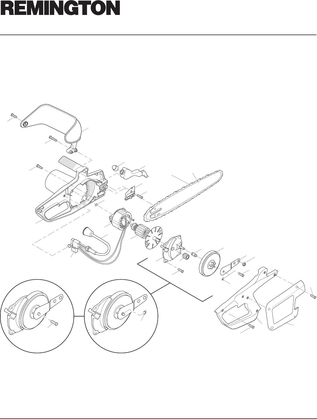 Page 16 of Remington Chainsaw EL-7 16-inch, EL-7 14-inch
