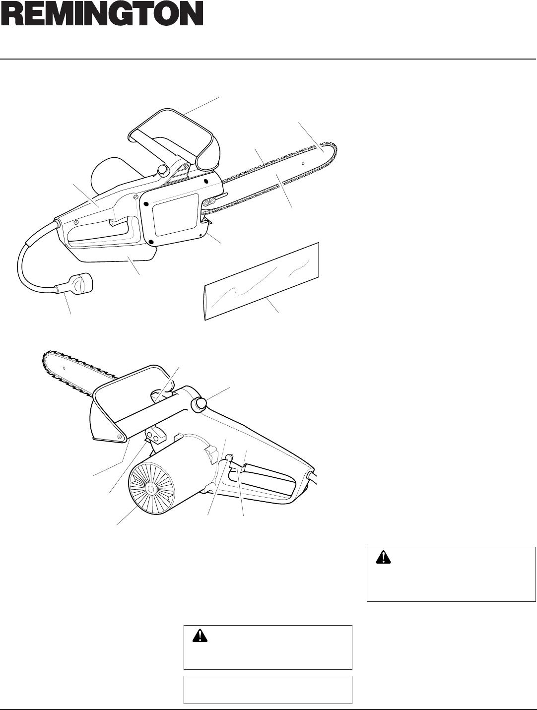 Page 6 of Remington Chainsaw EL-7 16-inch, EL-7 14-inch