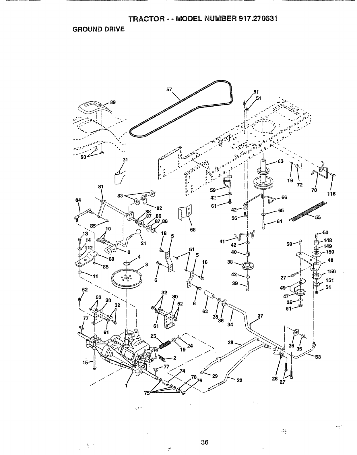 Page 36 of Craftsman Lawn Mower 917.270631 User Guide