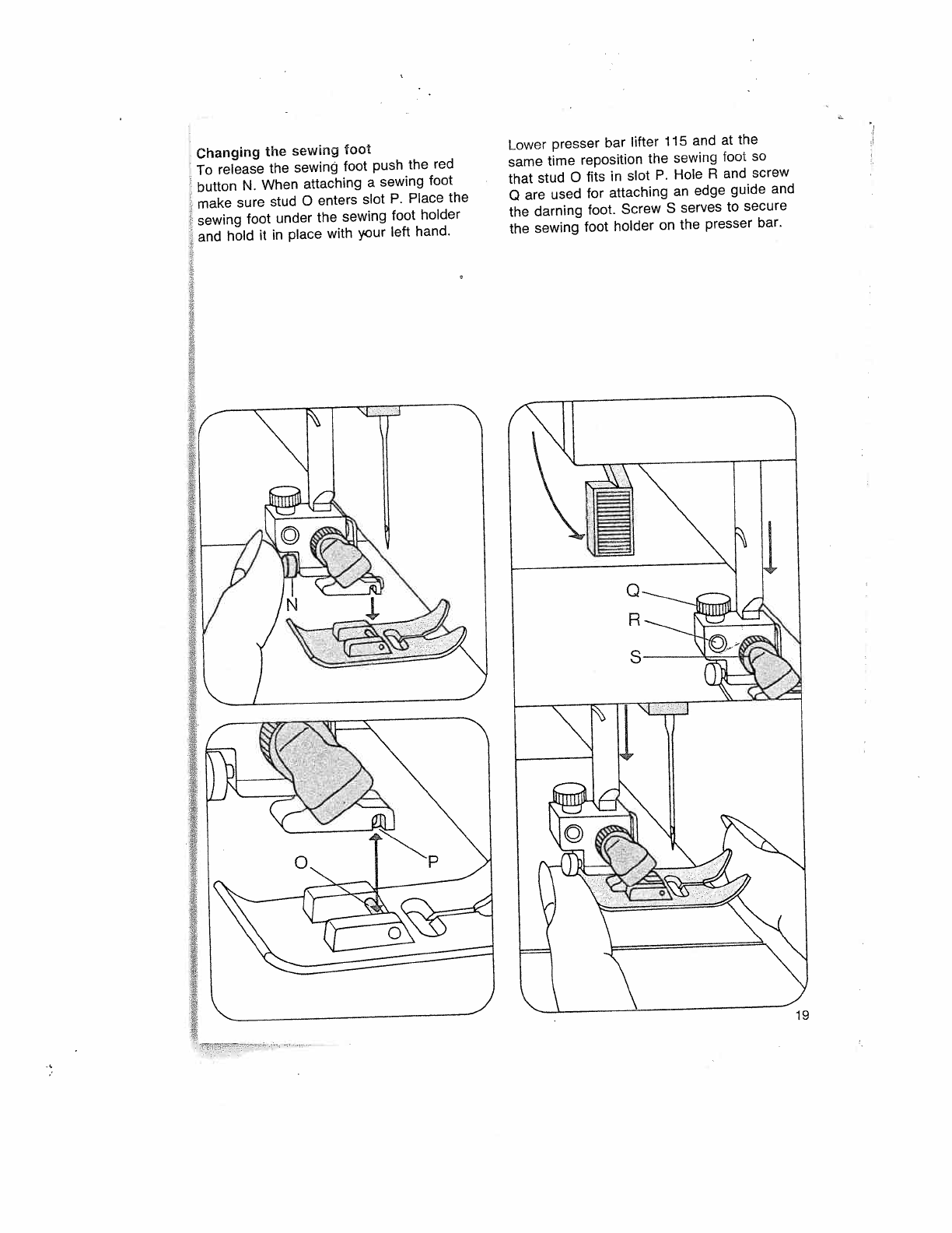 Page 23 of Pfaff Sewing Machine 1035 User Guide