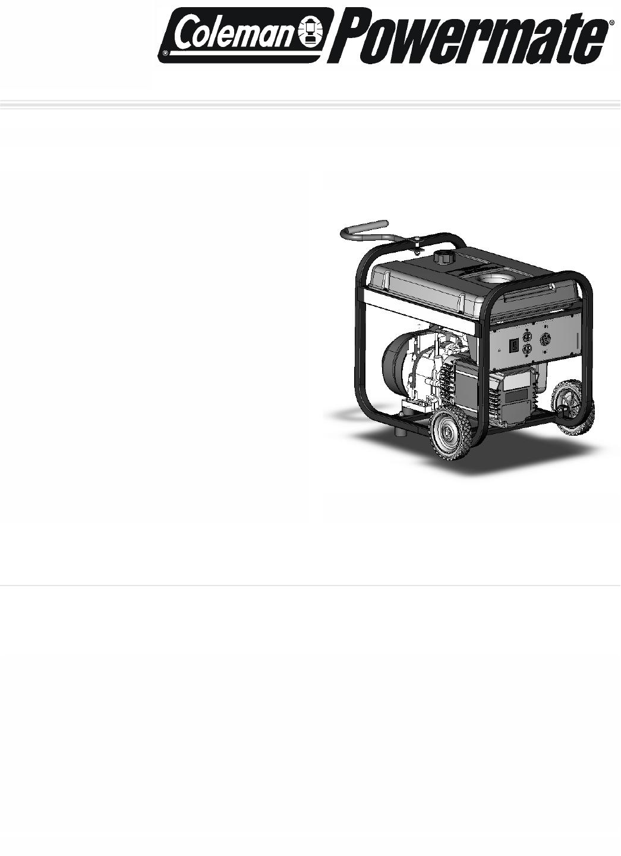 Powermate Portable Generator PC0545006 User Guide