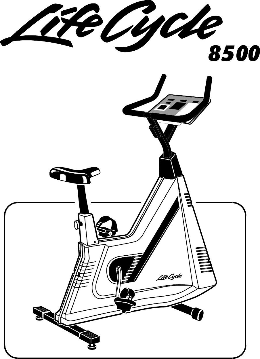 Life Fitness Elliptical Trainer Lifecycle 8500 User Guide
