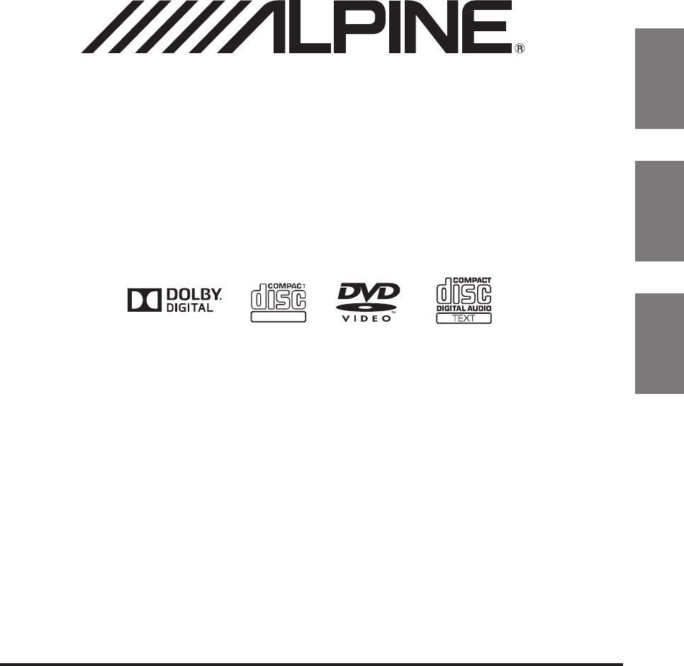 Alpine Car Video System PKG-RSE3DVD User Guide