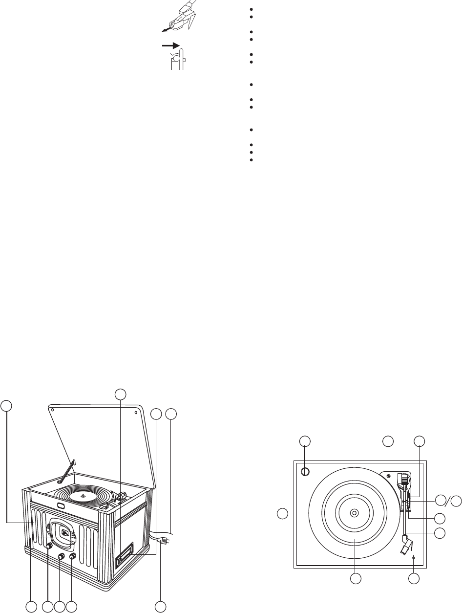 Page 2 of Crosley Radio CD Player CR67 User Guide