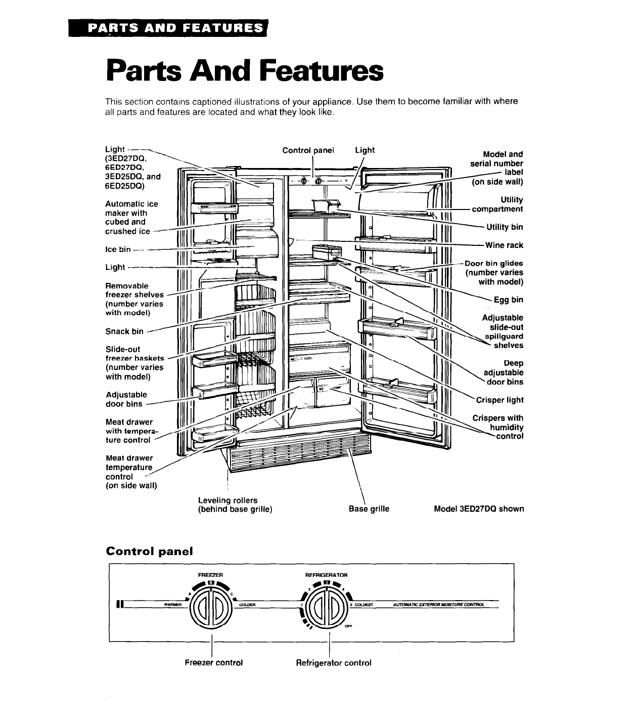 Page 4 of Whirlpool Refrigerator 3ED27DQ User Guide