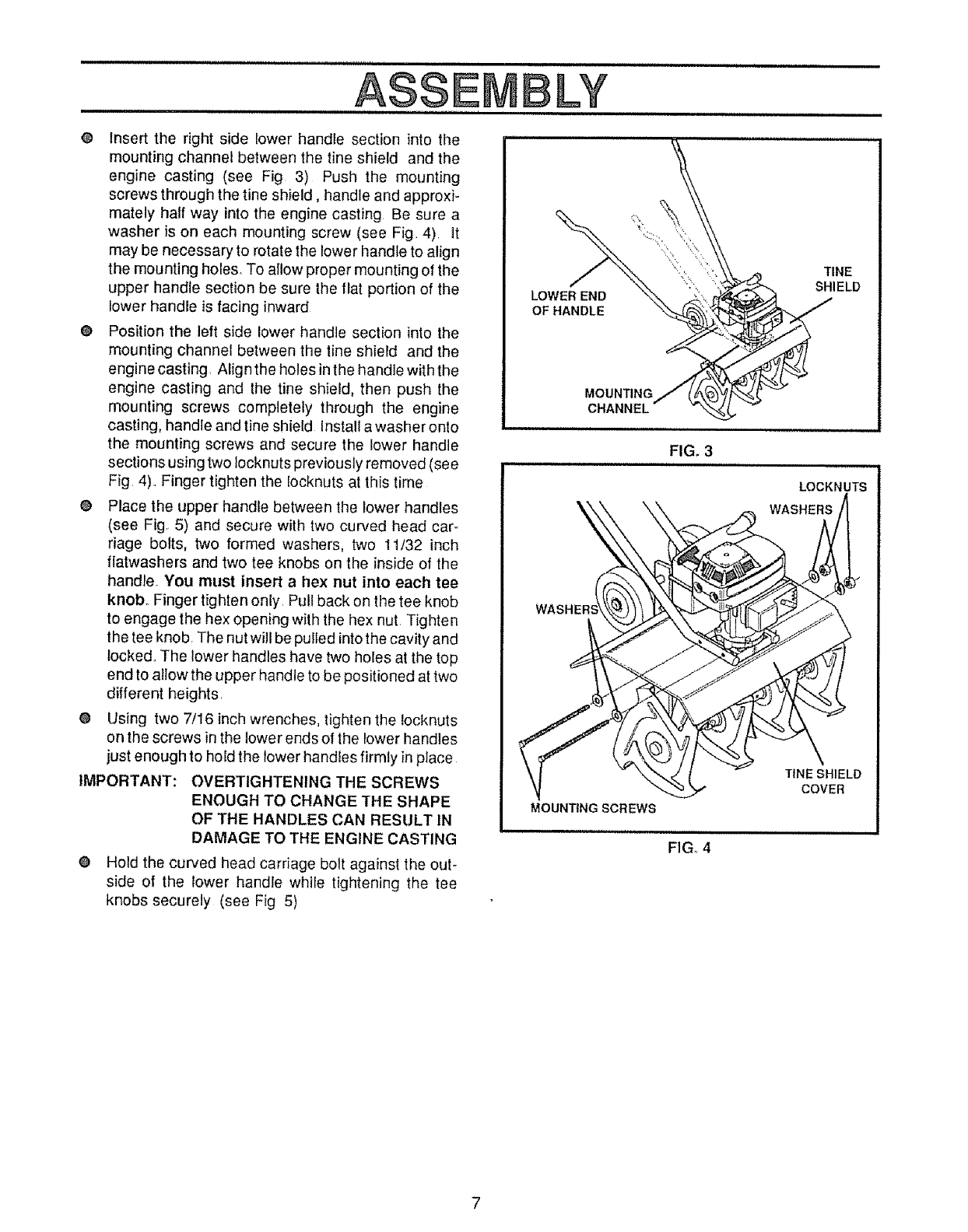 Page 7 of Craftsman Tiller 536.7975 User Guide