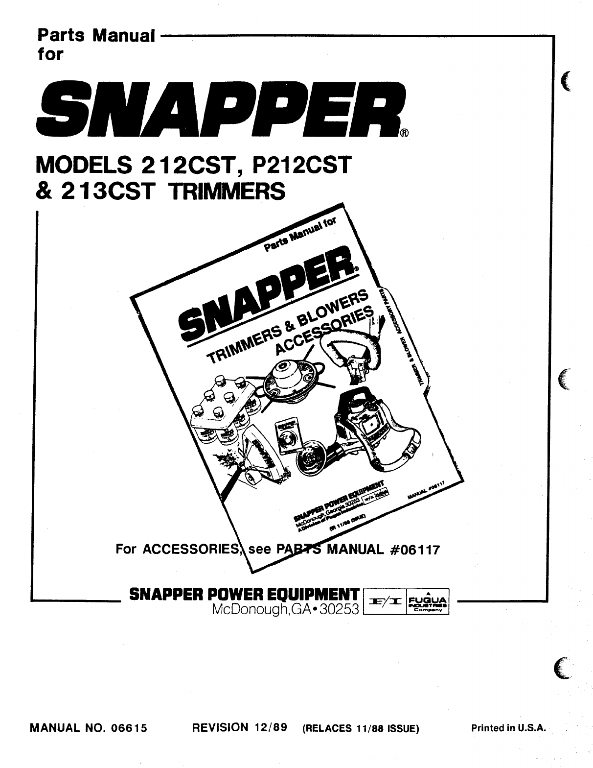 Page 8 of Snapper Trimmer 212CST User Guide