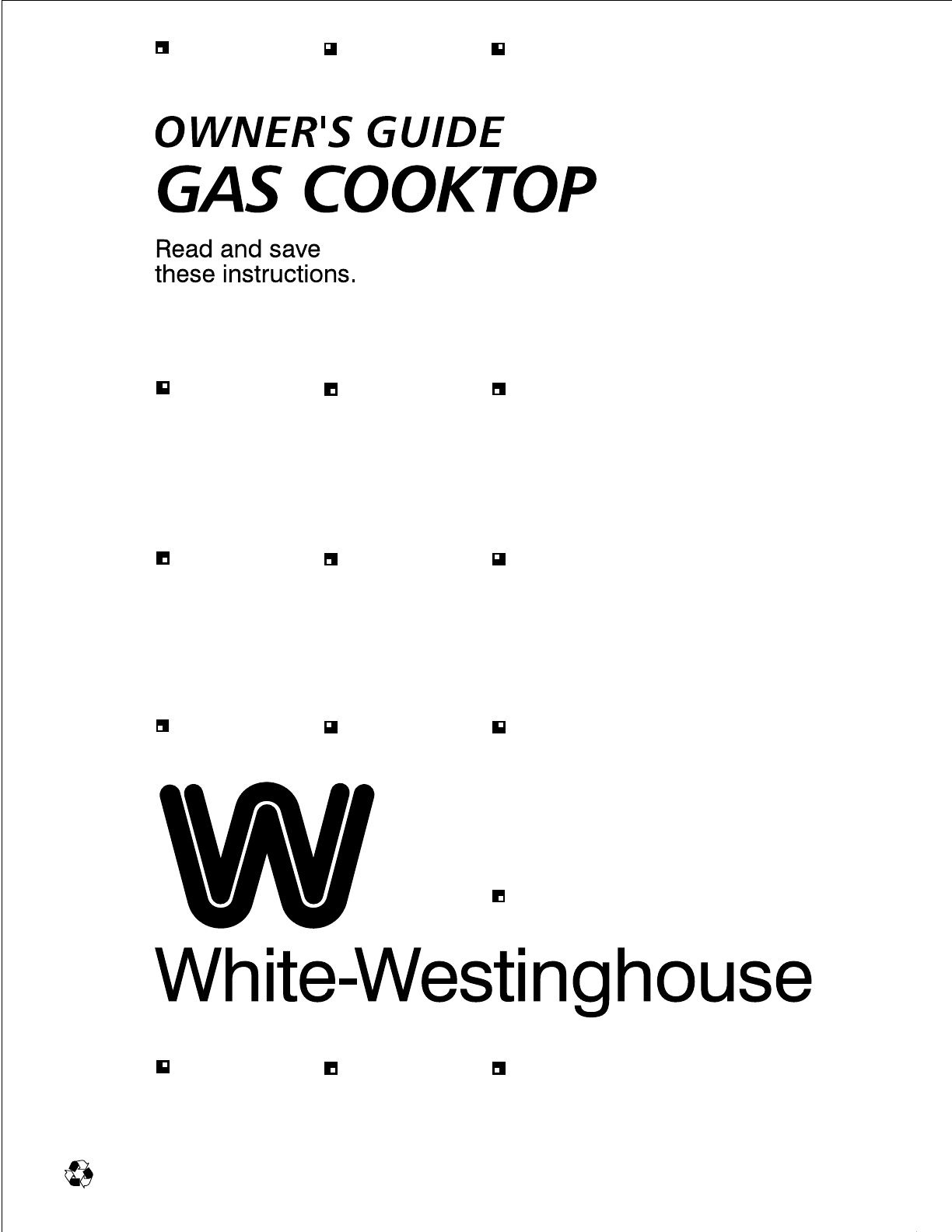 White-Westinghouse Cooktop 318132200 User Guide