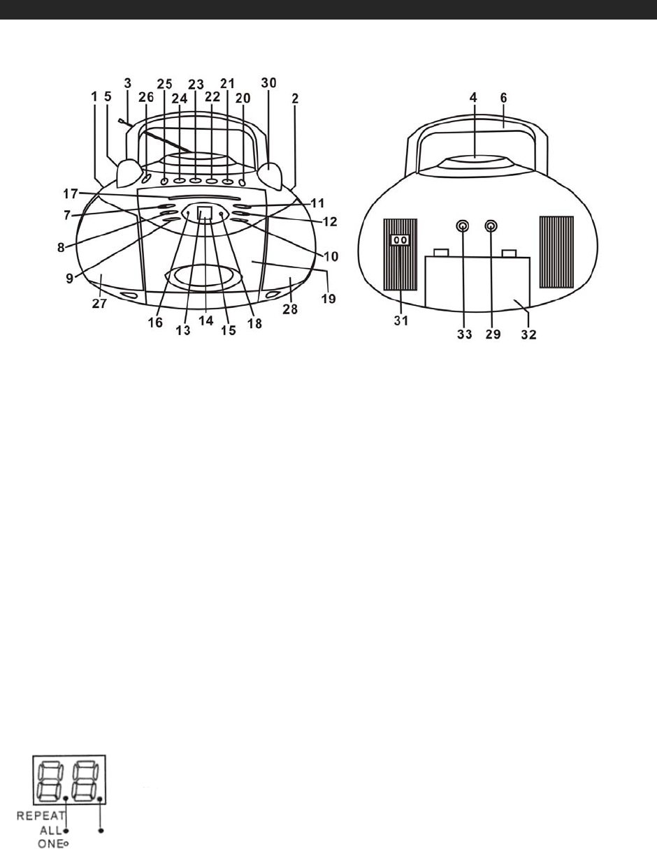 Page 7 of Jensen Cassette Player CD-545 User Guide
