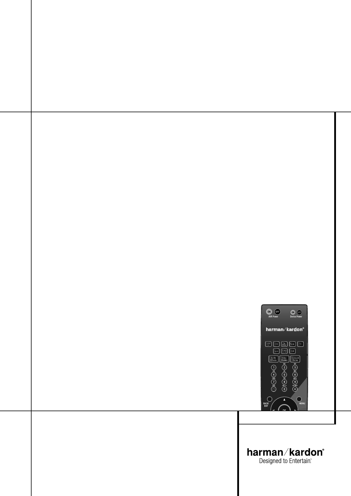 Harman-Kardon Stereo Receiver AVR 255 / 230V User Guide