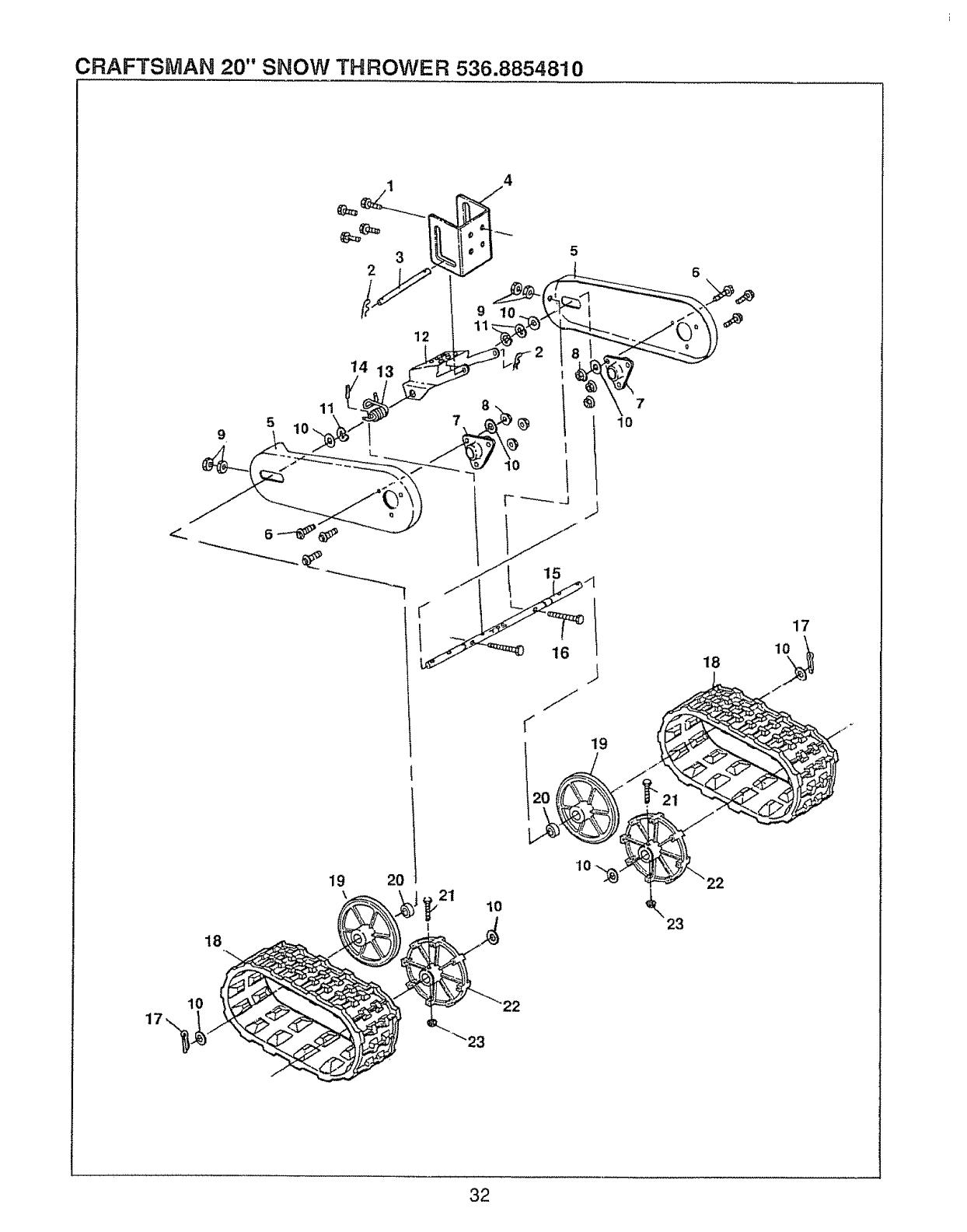 Page 32 of Sears Snow Blower 143.804062 User Guide