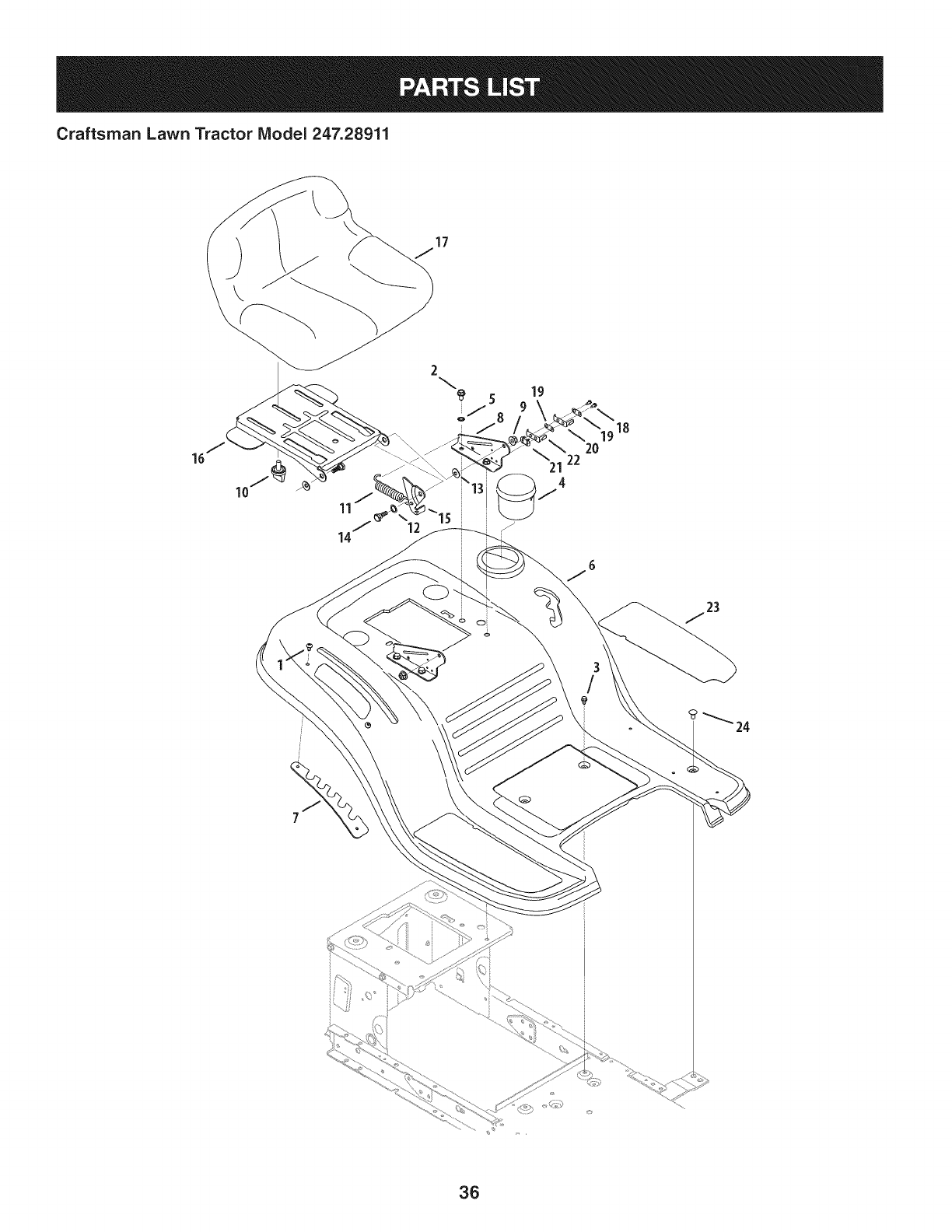 Page 36 of Craftsman Lawn Mower 247.28911 User Guide