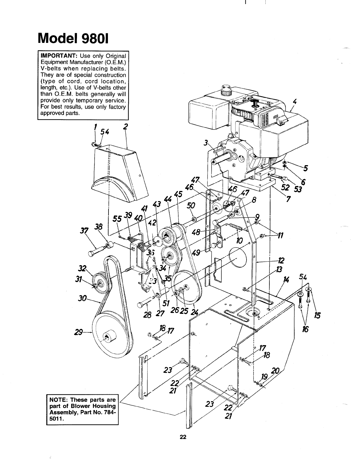 Page 22 of MTD Snow Blower 312-980I000 User Guide