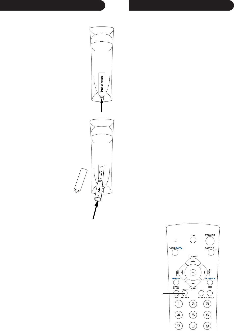 Page 3 of Radio Shack Universal Remote 15-2143 User Guide