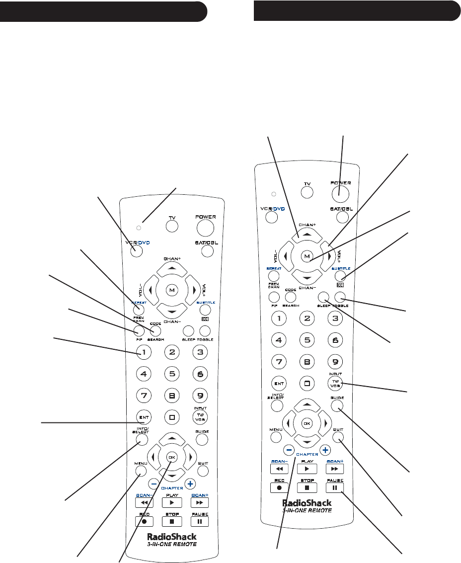 Page 4 of Radio Shack Universal Remote 15-2143 User Guide