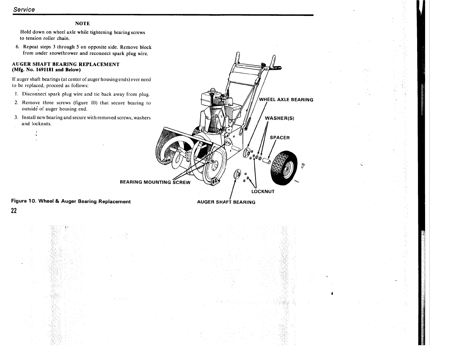 Page 26 of Simplicity Snow Blower 555 User Guide