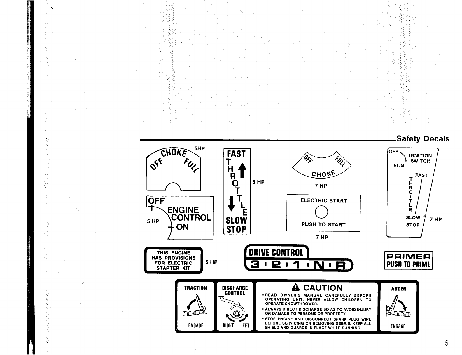 Page 9 of Simplicity Snow Blower 555 User Guide