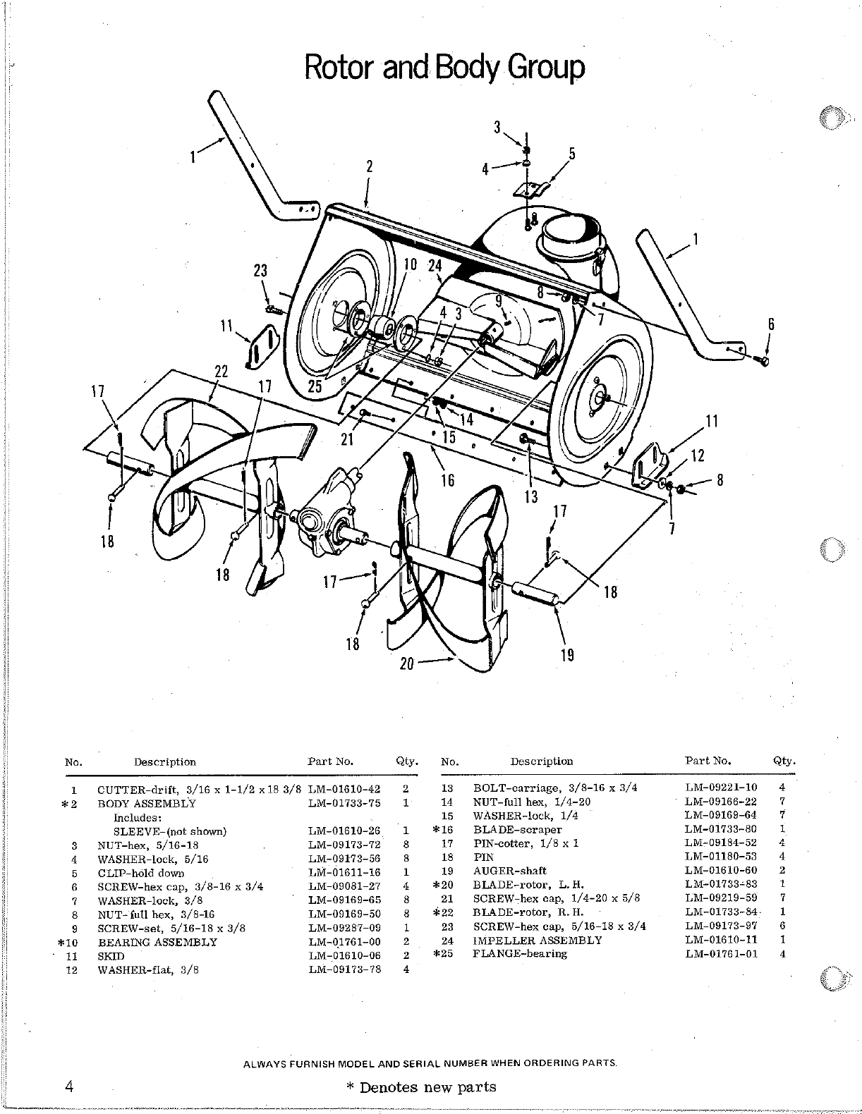 Page 4 of Homelite Snow Blower S-8 User Guide