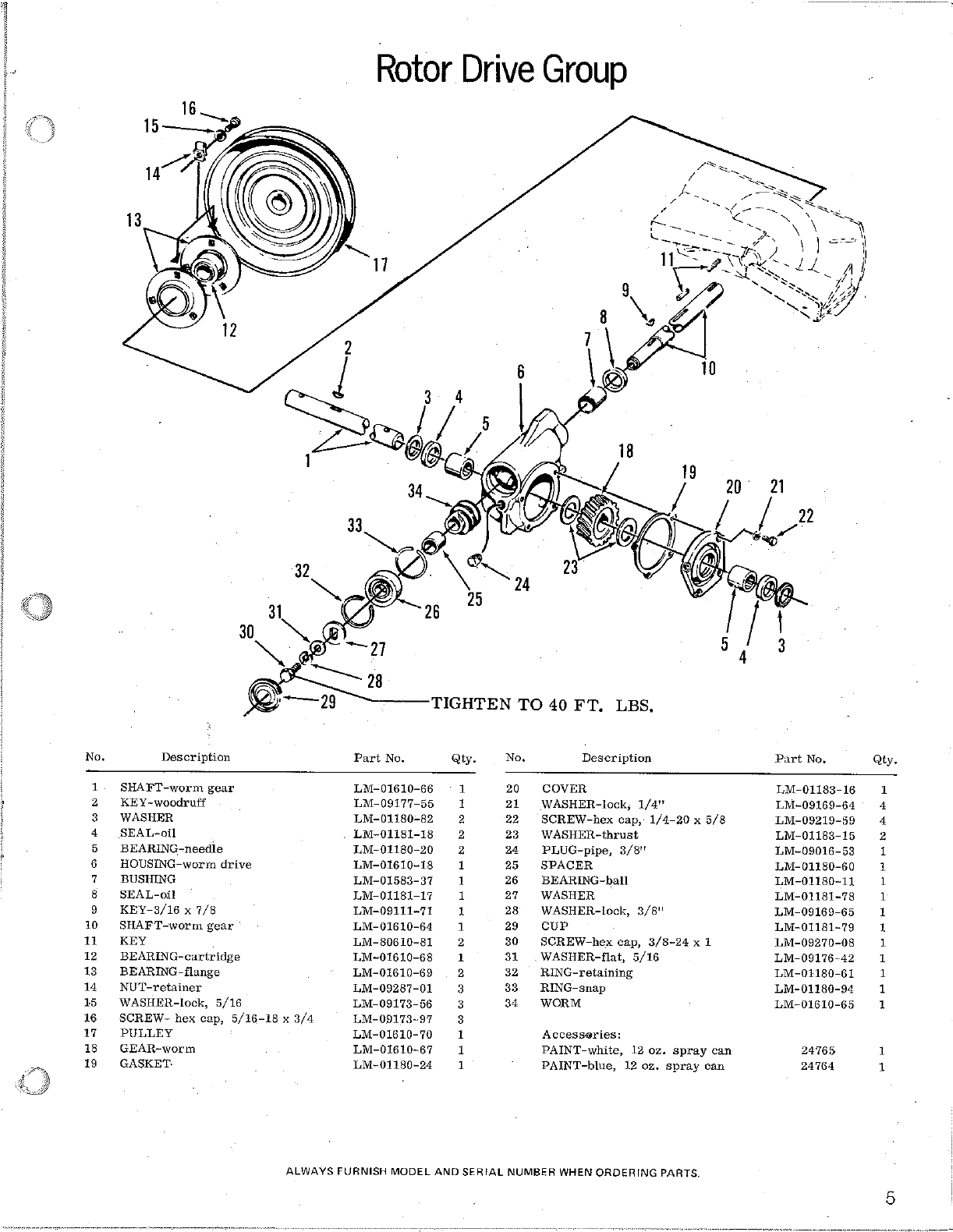 Page 5 of Homelite Snow Blower S-8 User Guide