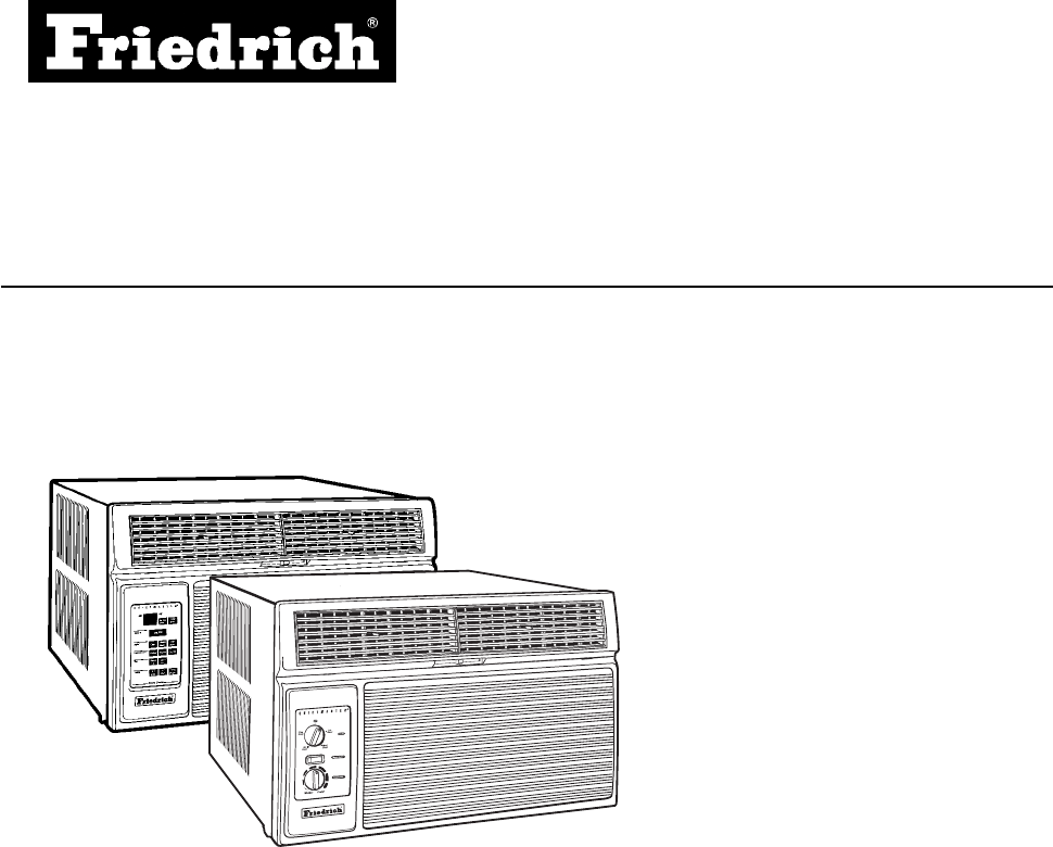 Friedrich Air Conditioner racservmn User Guide