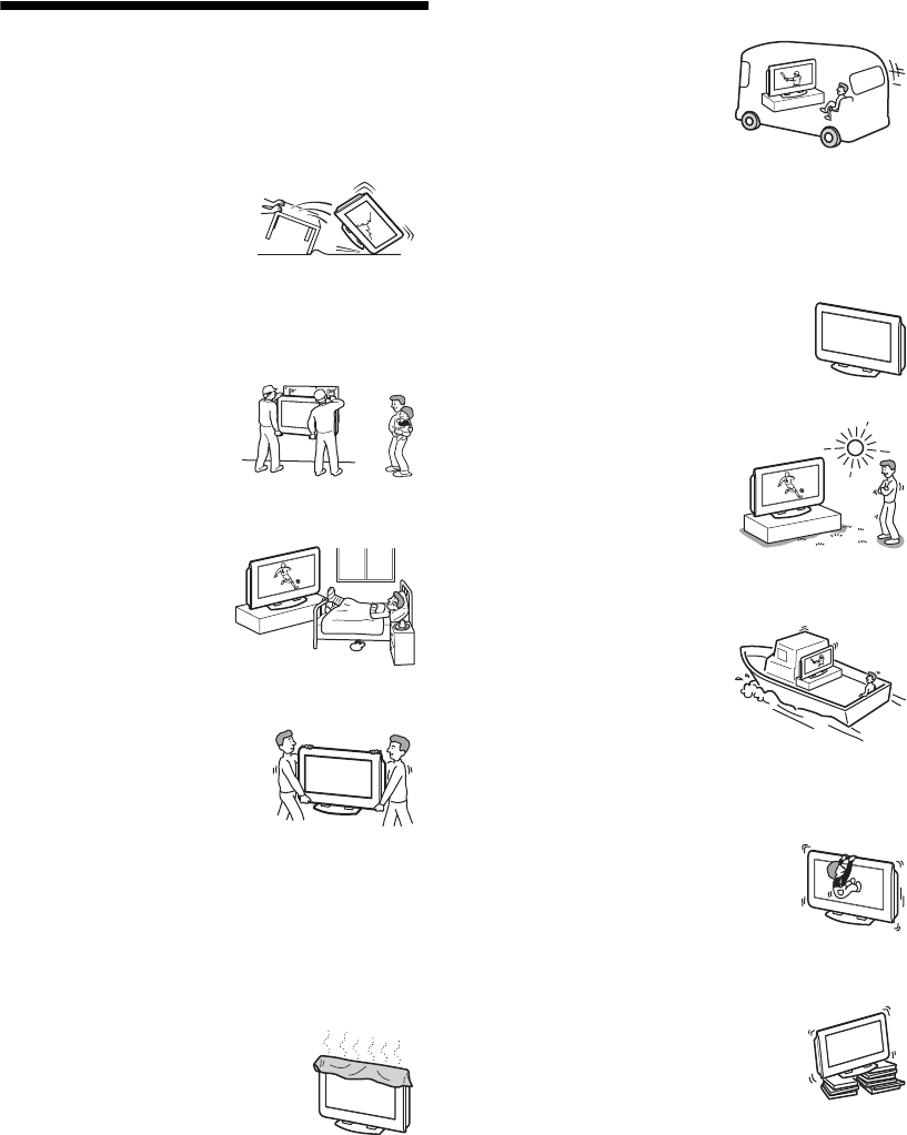 Page 5 of Sony Flat Panel Television KLV-V32A10 User Guide