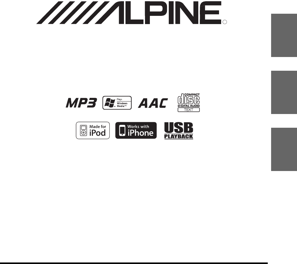 Alpine Car Stereo System CDE-102 User Guide