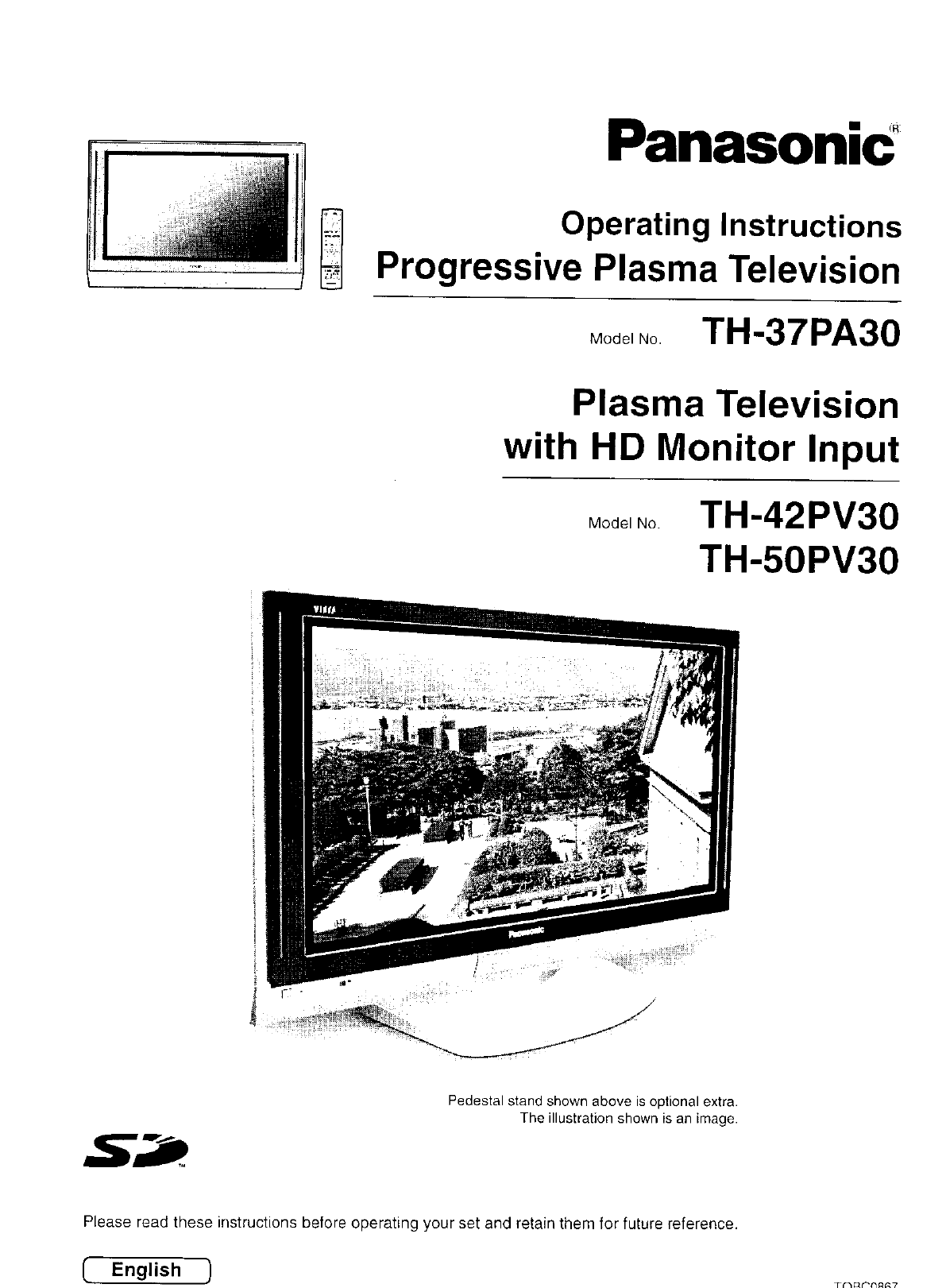 Panasonic Flat Panel Television TH-37PA30 User Guide