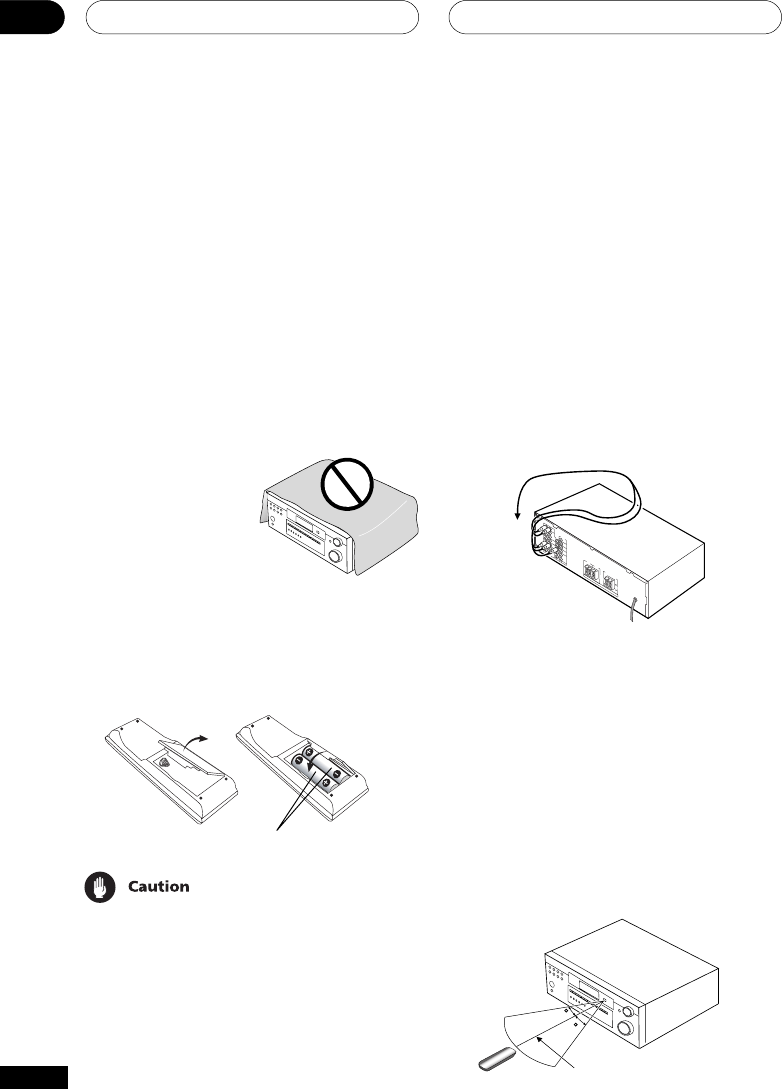 Page 6 of Pioneer Stereo Receiver VSX-D414 User Guide