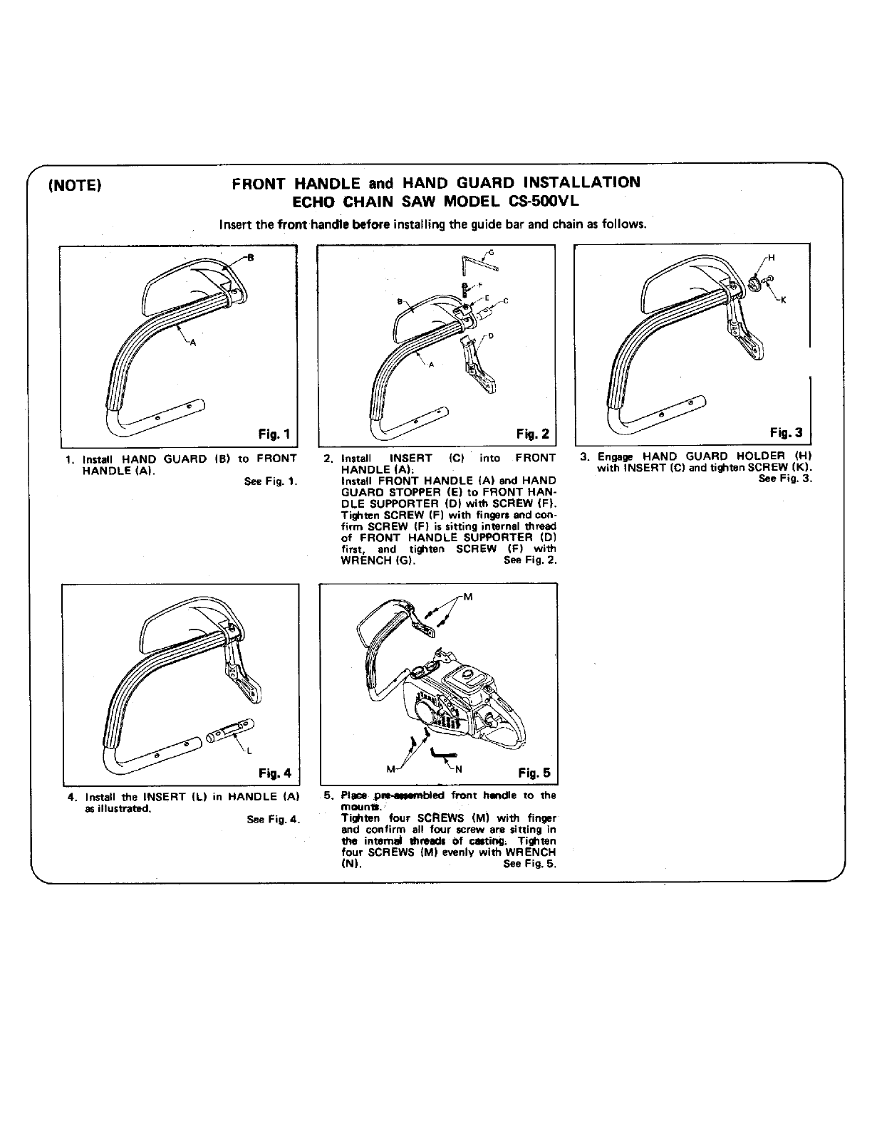 Page 2 of Echo Chainsaw CS-500 vl User Guide