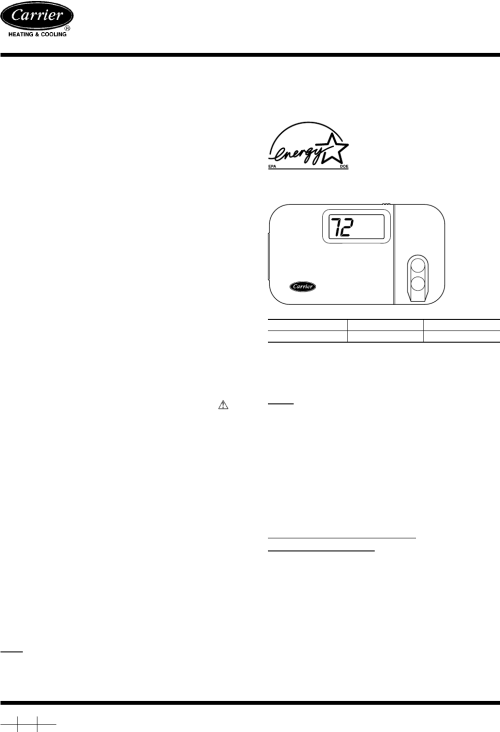 small resolution of carrier thermostat thermostat user manual