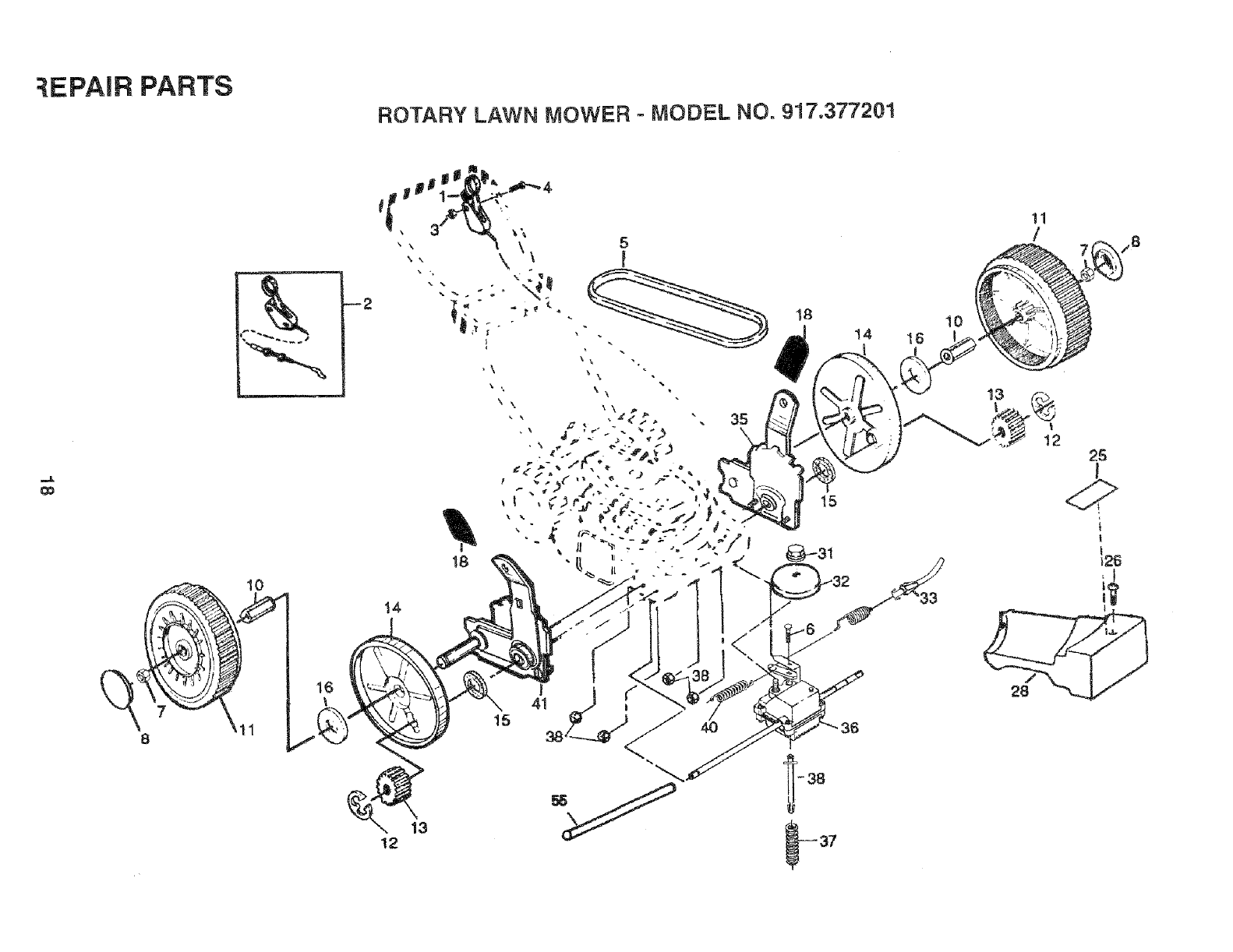 Page 18 of Sears Lawn Mower 917.377201 User Guide